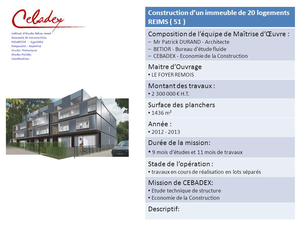 construction d un immeuble de 15 logements alfortville 94 ppt video online t l charger. Black Bedroom Furniture Sets. Home Design Ideas