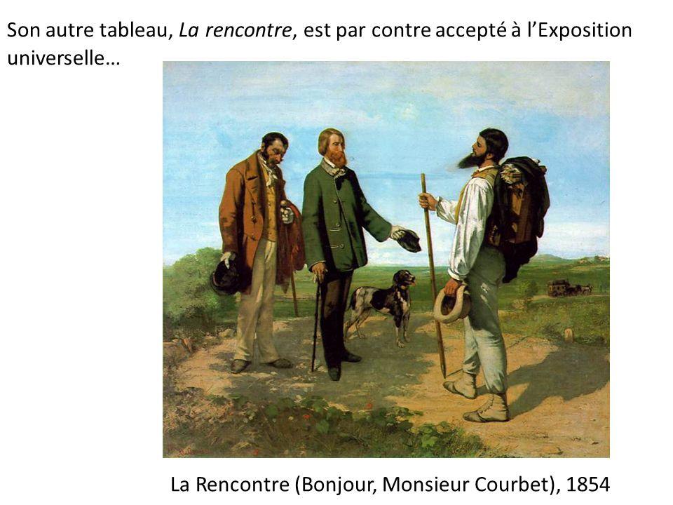 Description du tableau la rencontre ou bonjour monsieur courbet