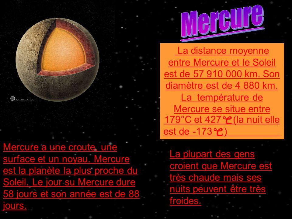 diametre de mercure