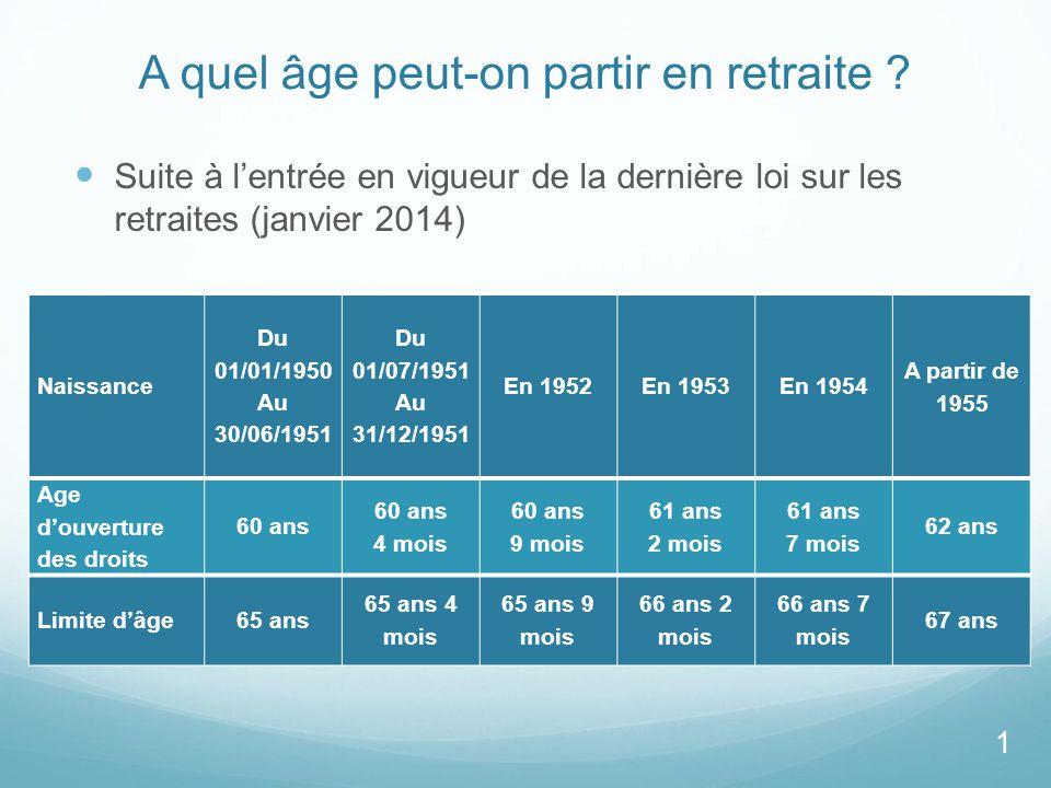 A Quelle Age La Retraite Ne En 1961