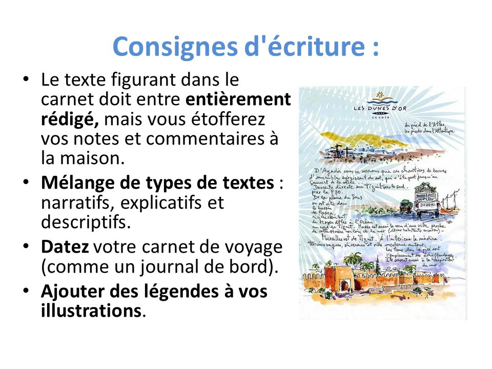 carnet de note illustré