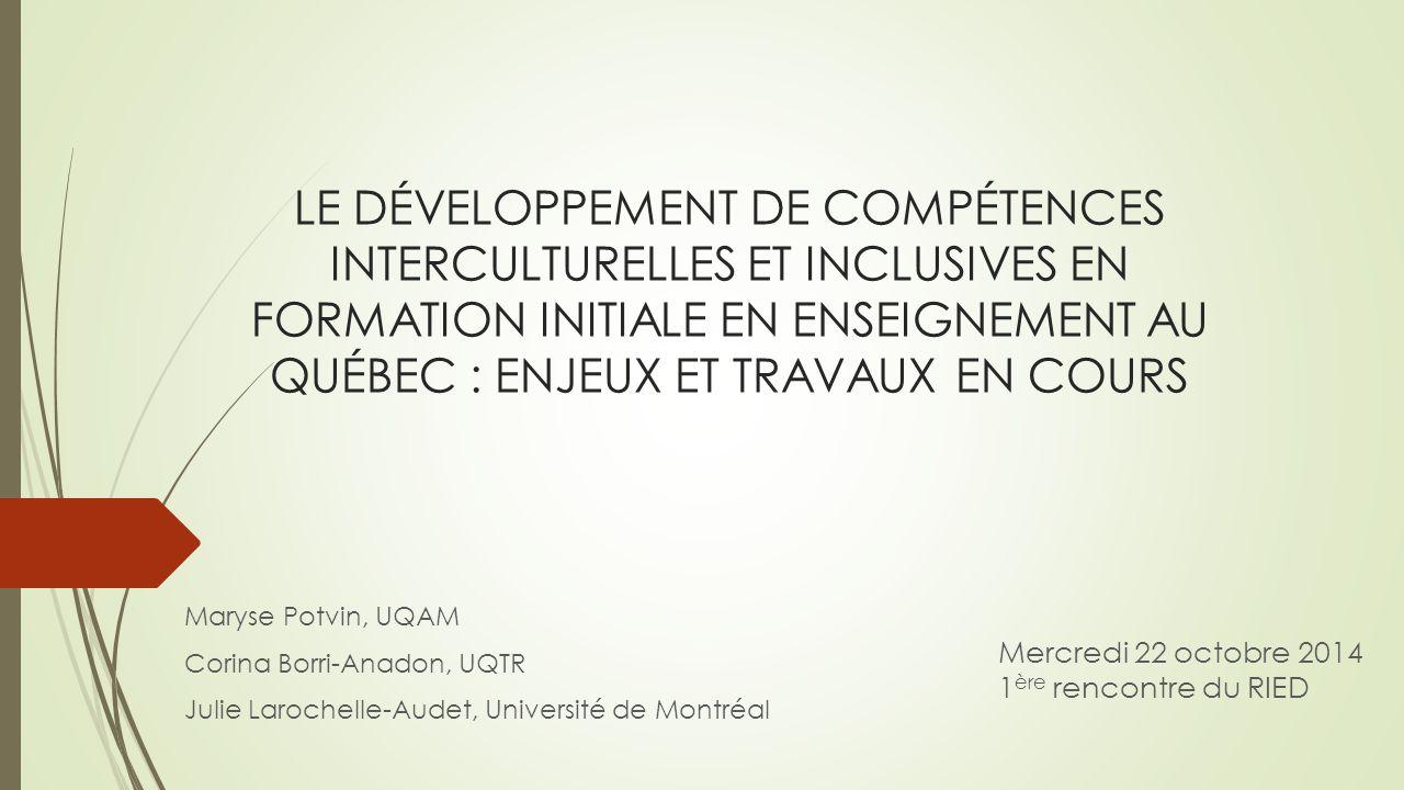 Rencontres interculturelles et formation