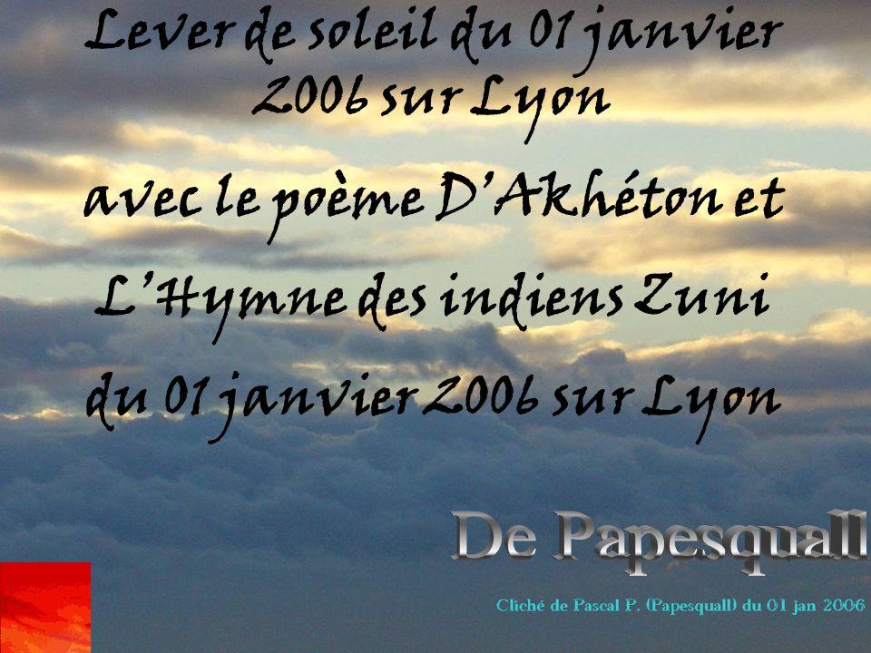 Lever De Soleil Du 01 Janvier 2006 Sur Lyon Avec Le Poème Dakhéton Et