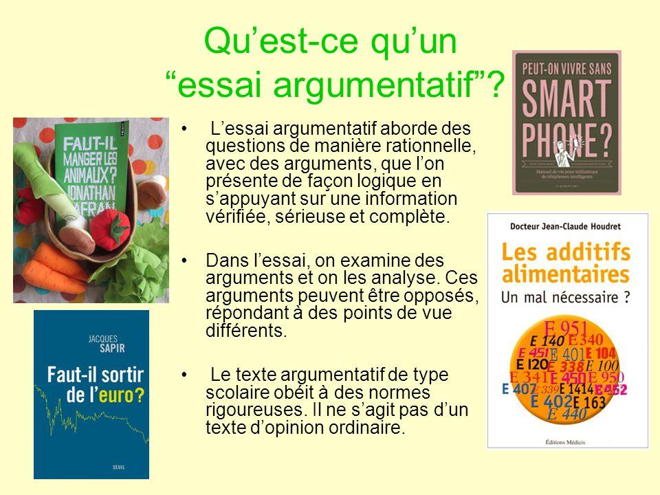 Ecrire Un Essai Argumentatif Ppt Video Online Telecharger