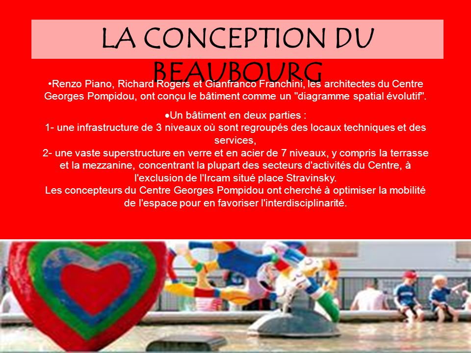 LA CONCEPTION DU BEAUBOURG