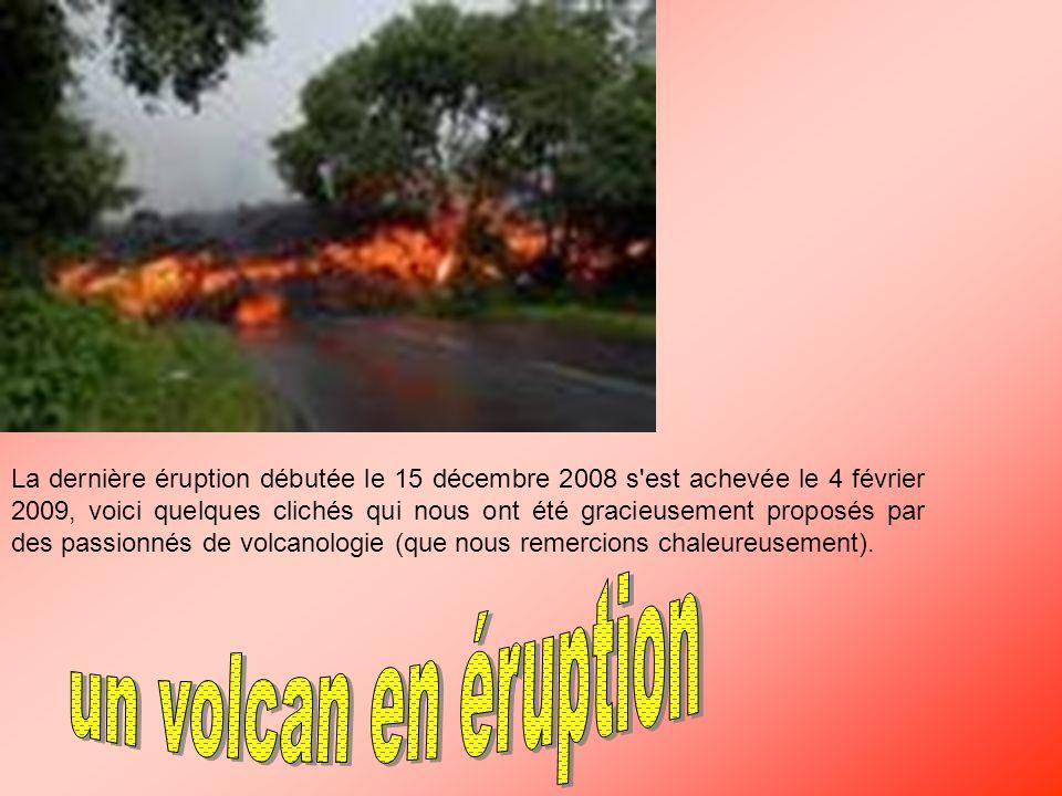 dernières éruptions volcaniques dans le monde