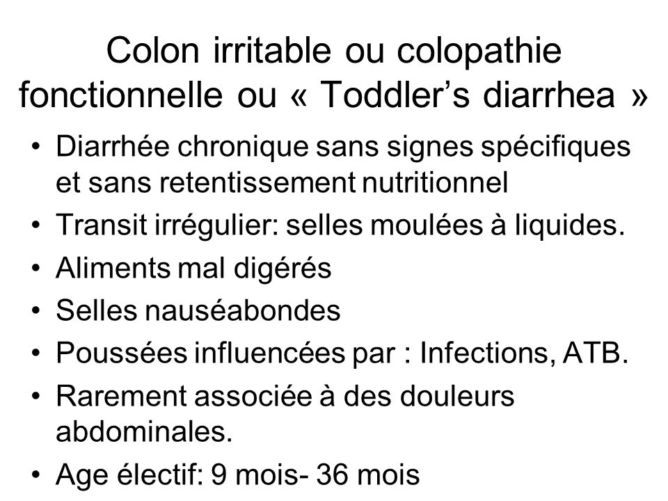 Diarrhée chronique chez l'enfant - ppt télécharger