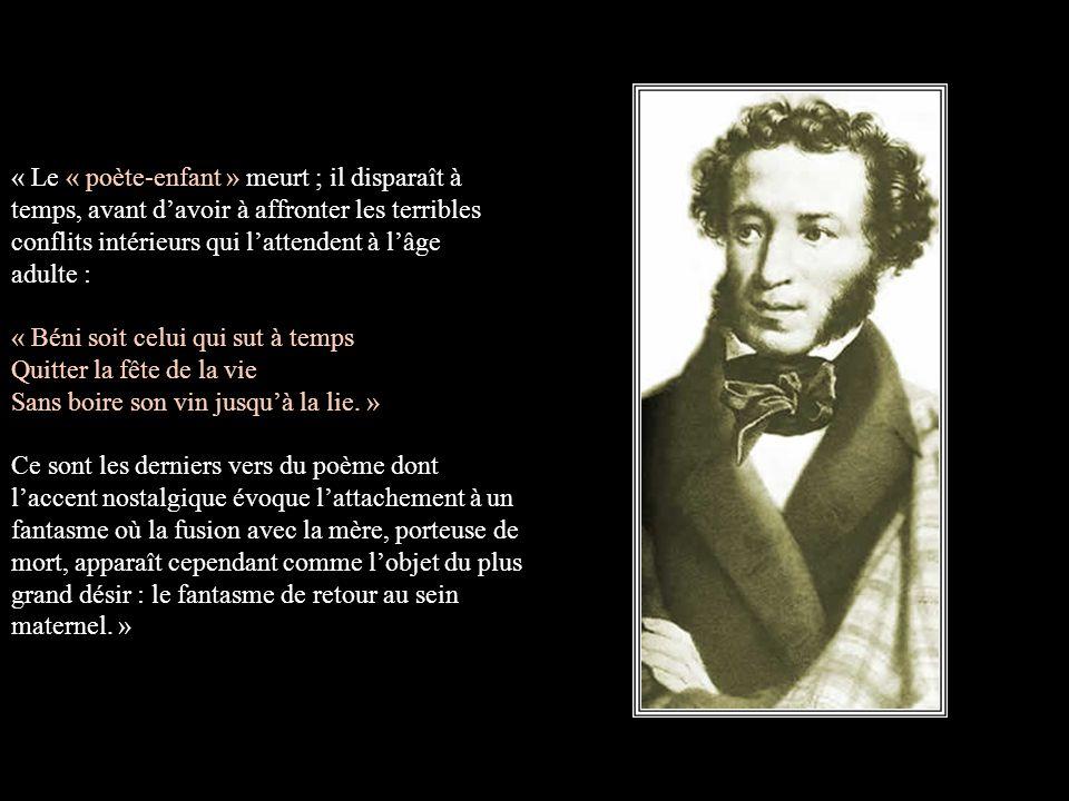 Alexandre Pouchkine Vous Aimez La Poésie Voici Dabord La