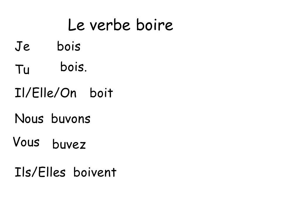 Conjugaison De Verbe Boire Au Present