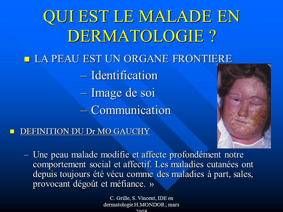 Soins Infirmiers En Dermatologie Ppt Video Online