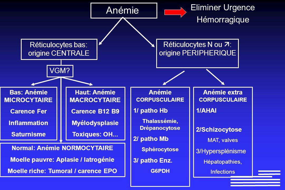 anemie d origine peripherique