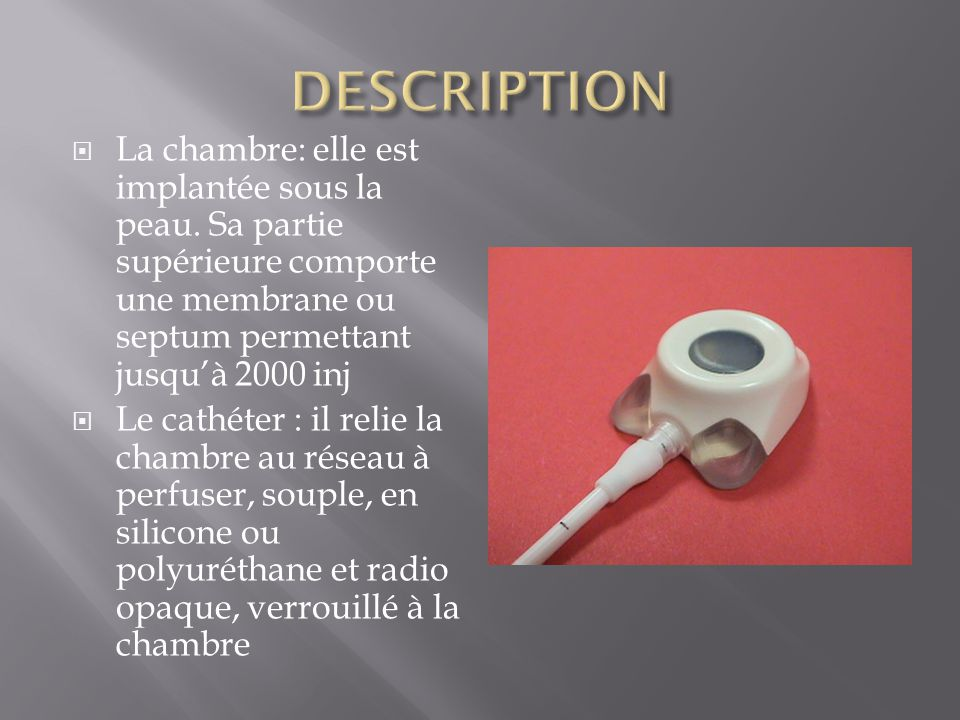 Chambre Implantable Sylvie Pissarello Ppt Video Online Télécharger