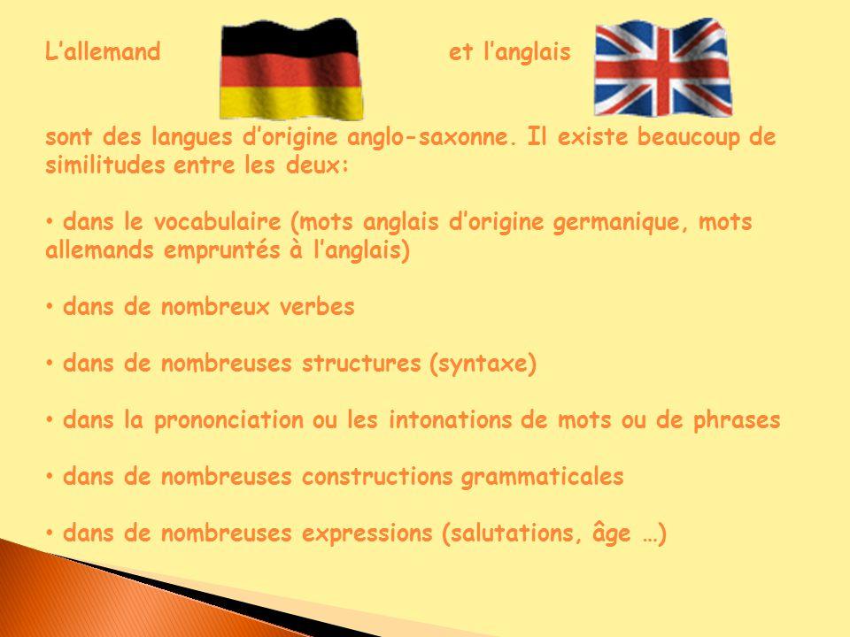 origine langue allemande