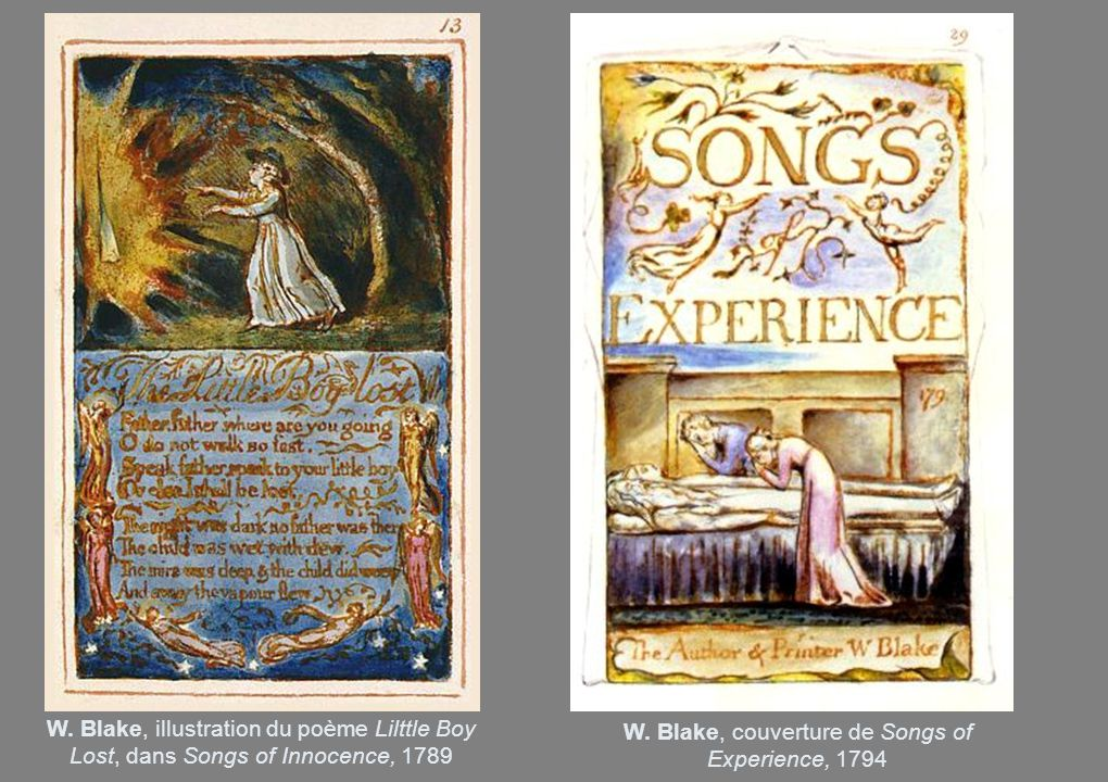 W. Blake, couverture de Songs of Experience, 1794