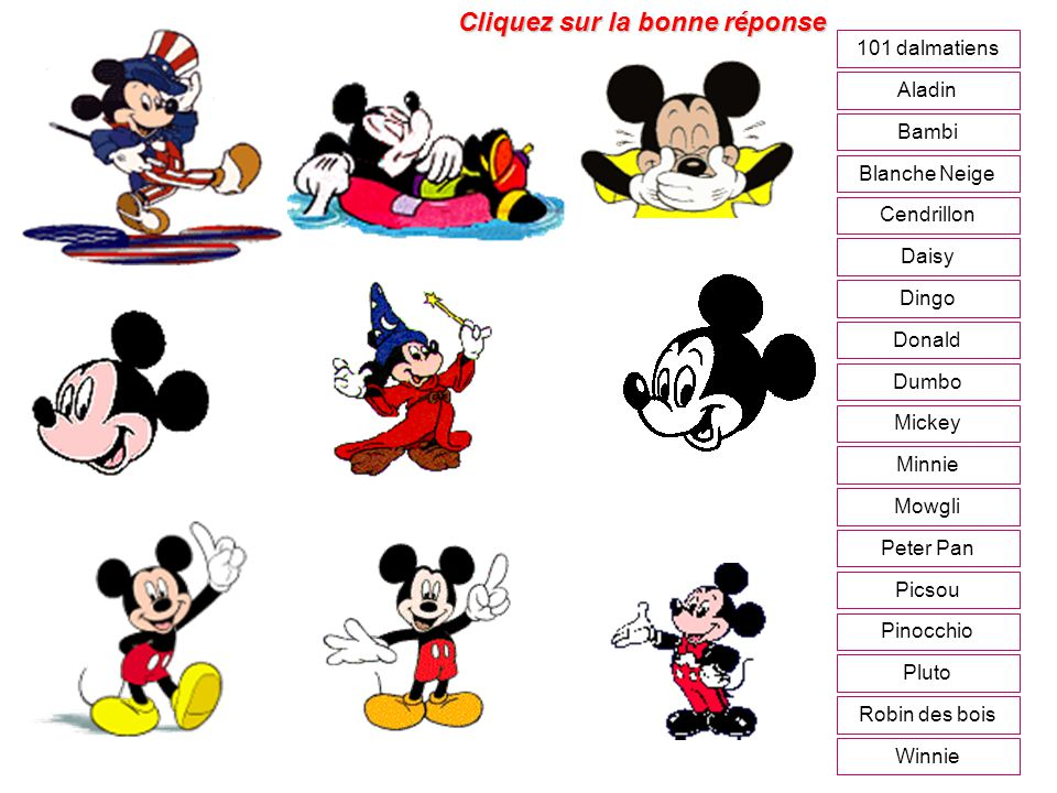 sujet mickey minnie