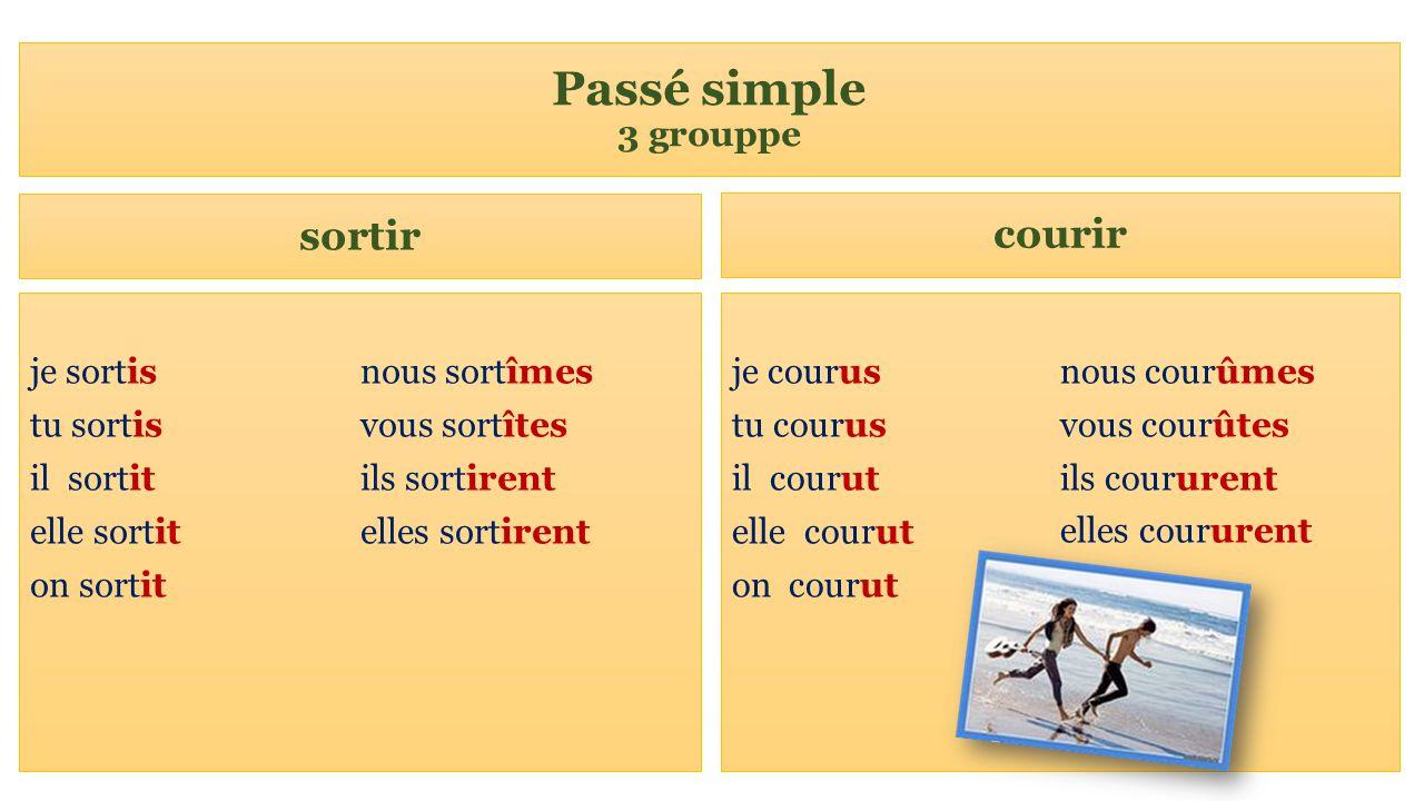 Conjuguer Verbe Courir Au Passe Simple
