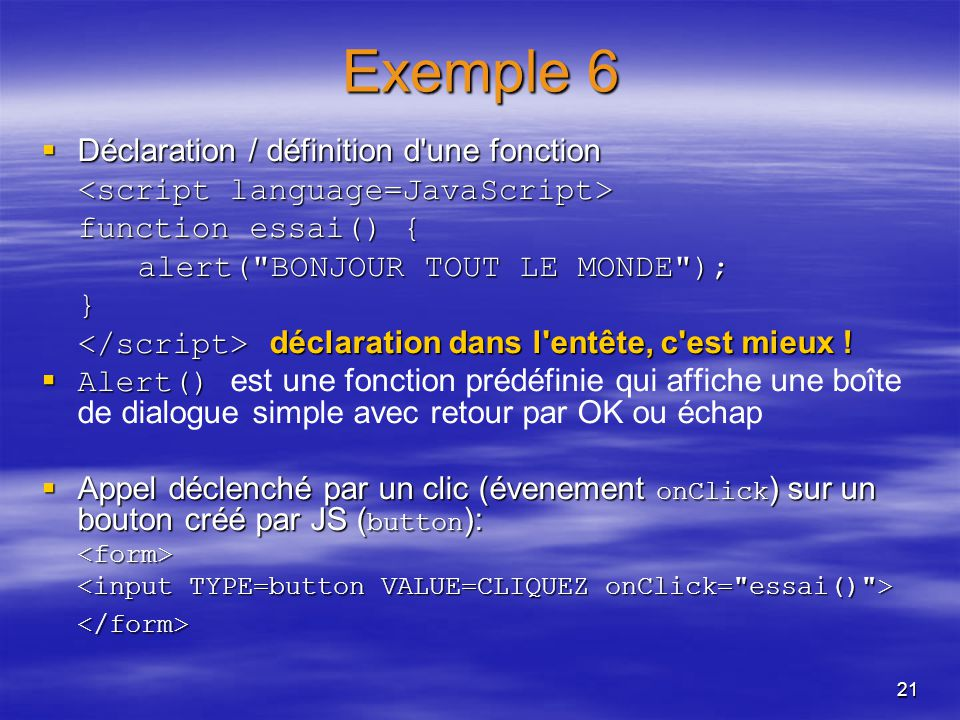 Initiation Au Javascript Ppt Video Online Telecharger