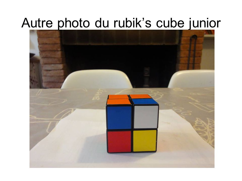 Autre photo du rubik's cube junior