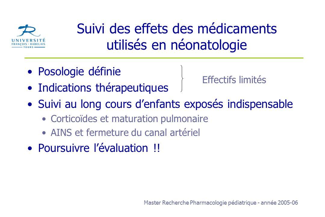 médicaments utilisés en pédiatrie