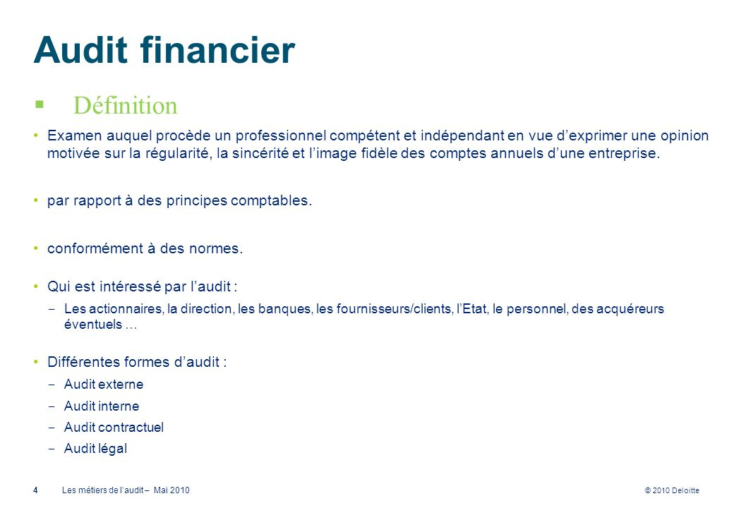 Audit financier Définition