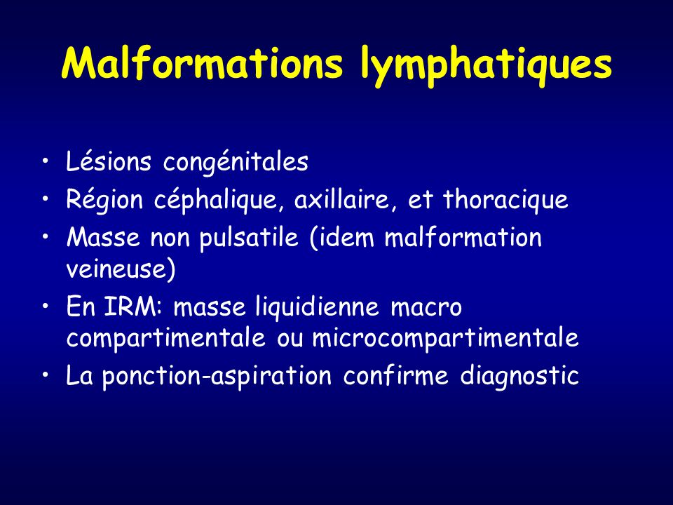 Malformations lymphatiques