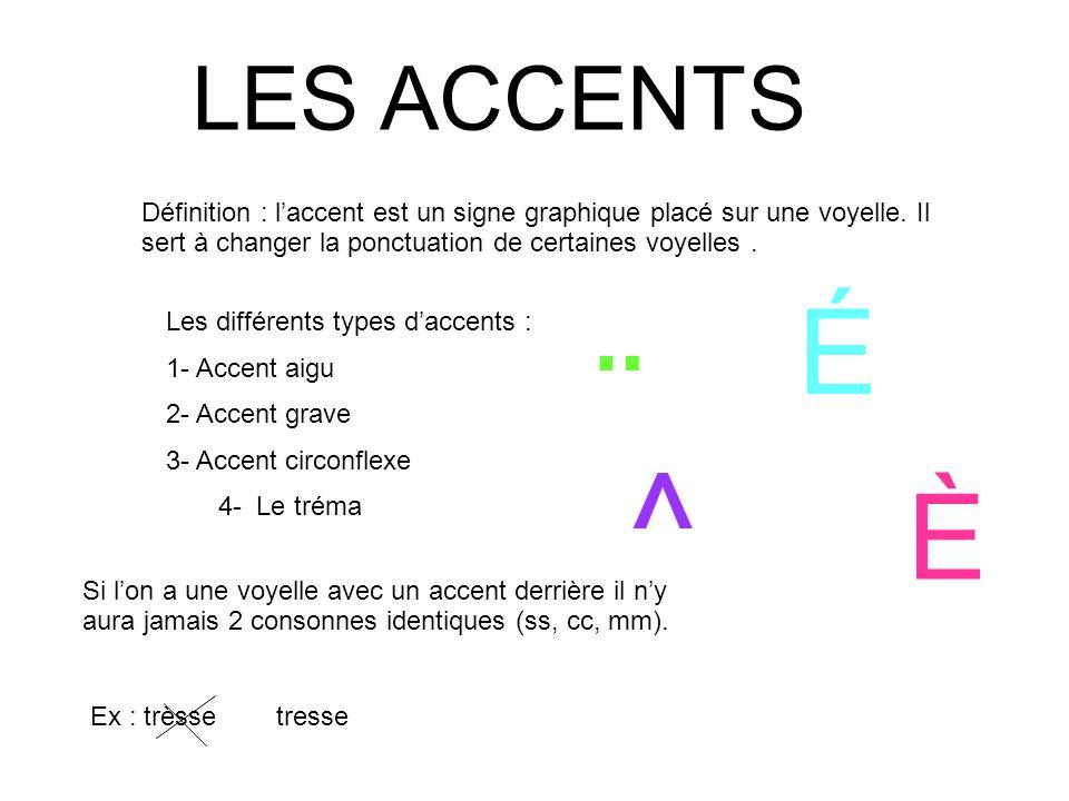 les accents d finition l accent est un signe graphique plac sur une voyelle il sert. Black Bedroom Furniture Sets. Home Design Ideas