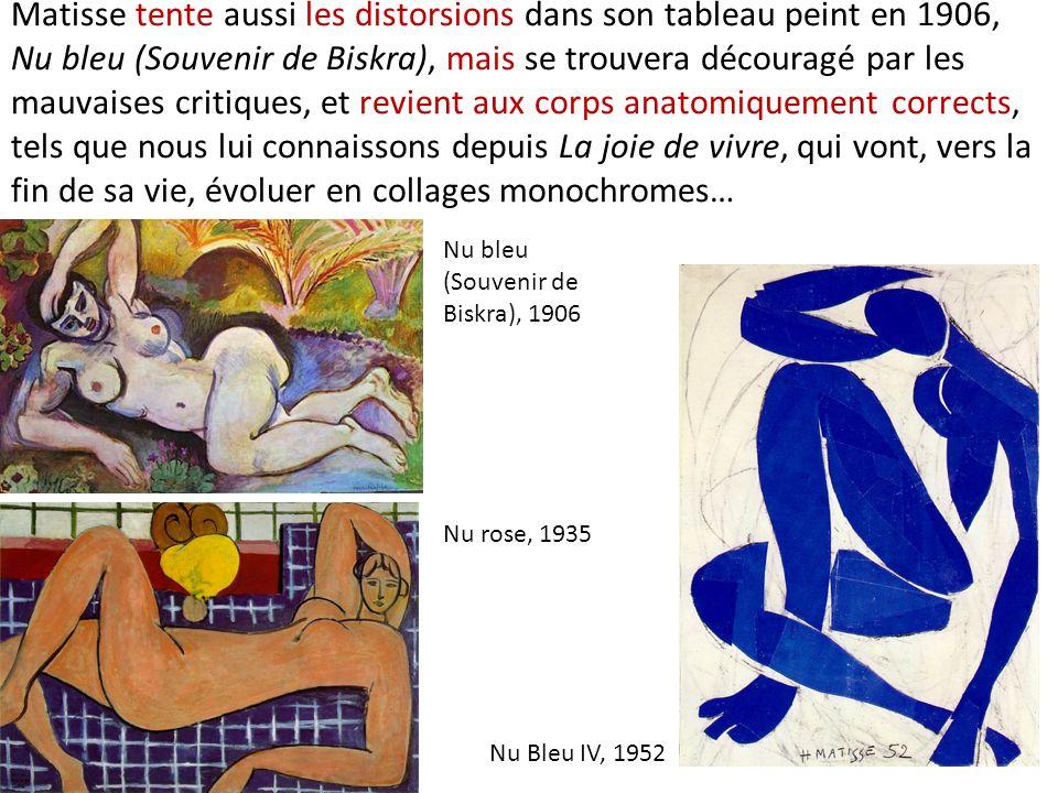 fe788ea5799 16 Matisse tente aussi les distorsions dans son tableau peint en 1906