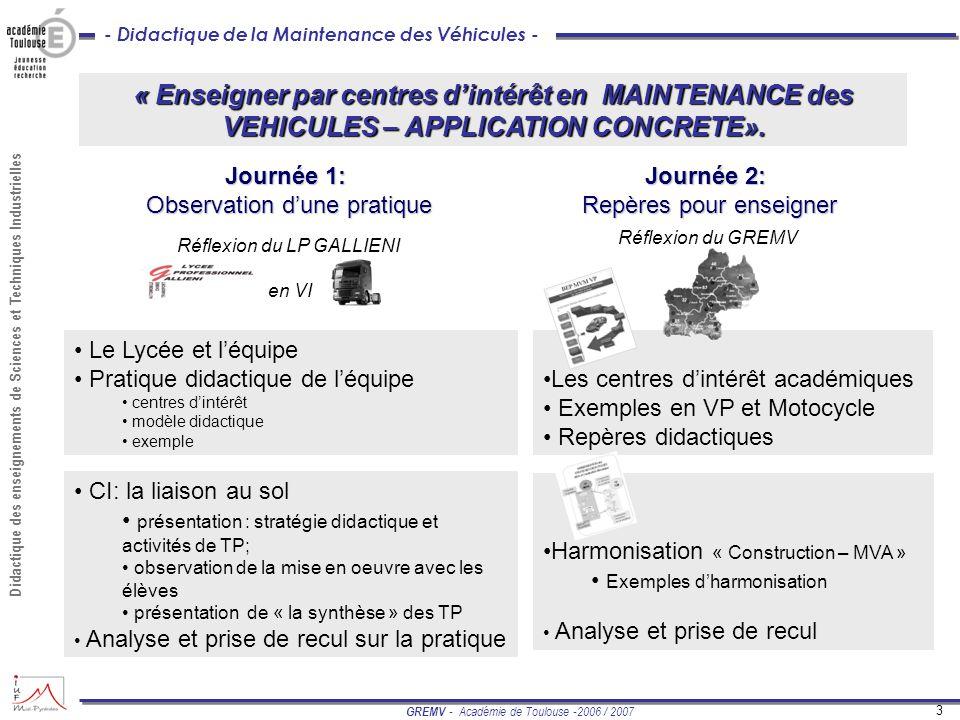 Enseigner Par Centres D Intérêt En Maintenance Des Vehicules