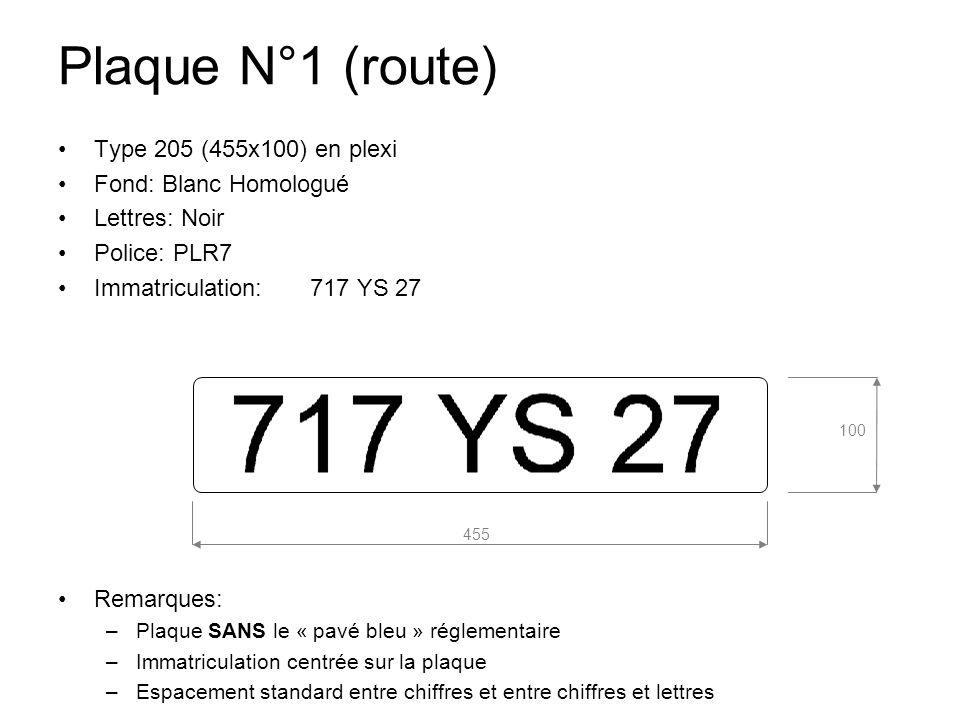 plaque n 1 route type 205 455x100 en plexi fond blanc. Black Bedroom Furniture Sets. Home Design Ideas