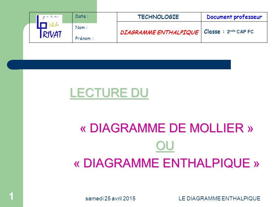 Diagramme Enthalpique Ppt Video Online Telecharger