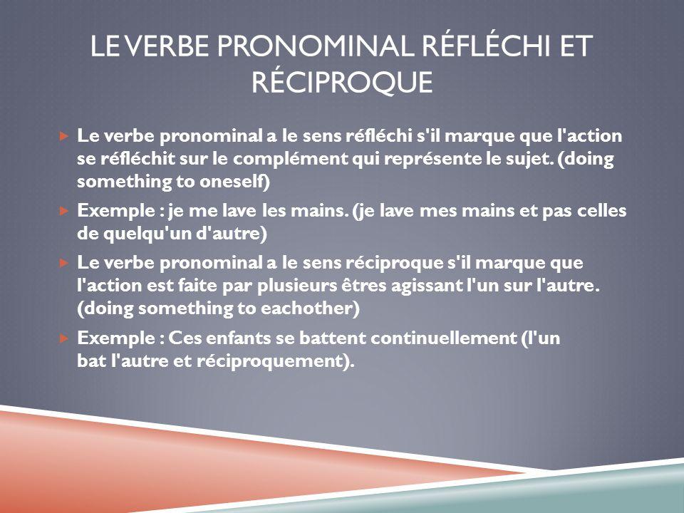 le pr u00e9sent les verbes r u00e9guliers  irr u00e9guliers  les verbes pronominaux et la n u00e9gation