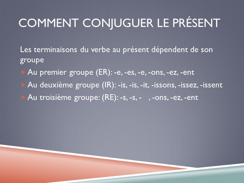 Le Present Les Verbes Reguliers Irreguliers Les Verbes Pronominaux Et La Negation Ppt Video Online Telecharger