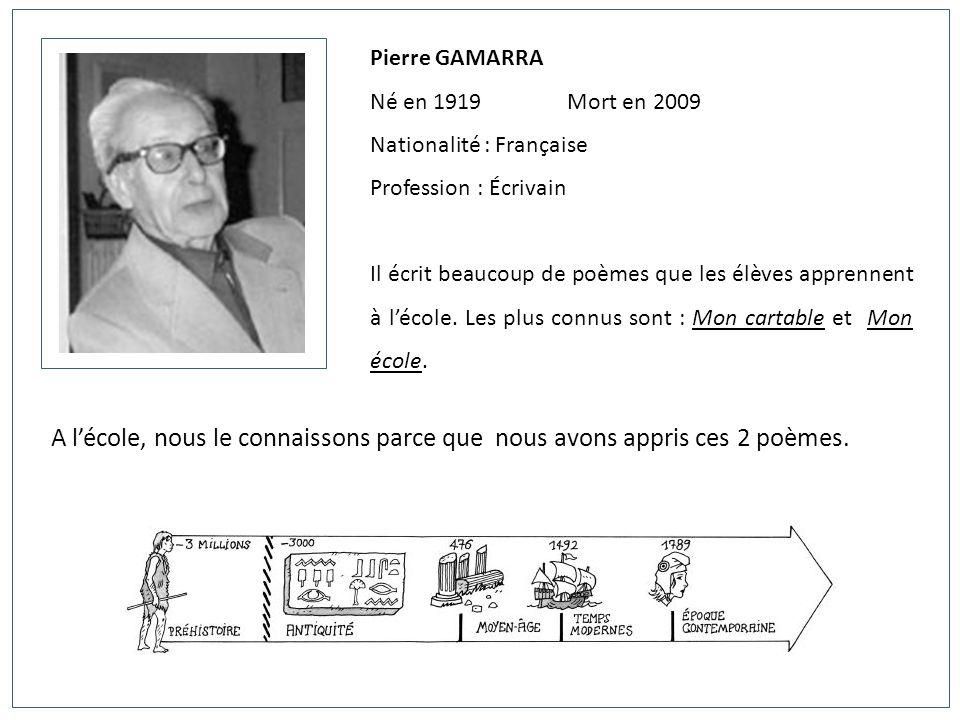 Célèbre Pierre GAMARRA Né en Mort en 2009 Nationalité : Française - ppt  SR16