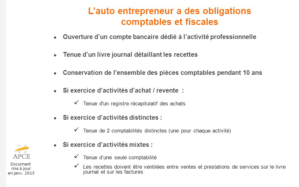 Presentation Du Regime De L Auto Entrepreneur Ppt Video Online