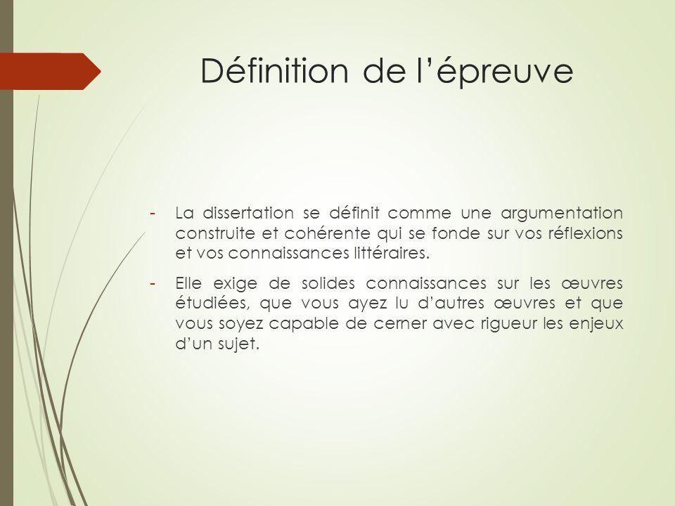 Dfinition d une dissertation