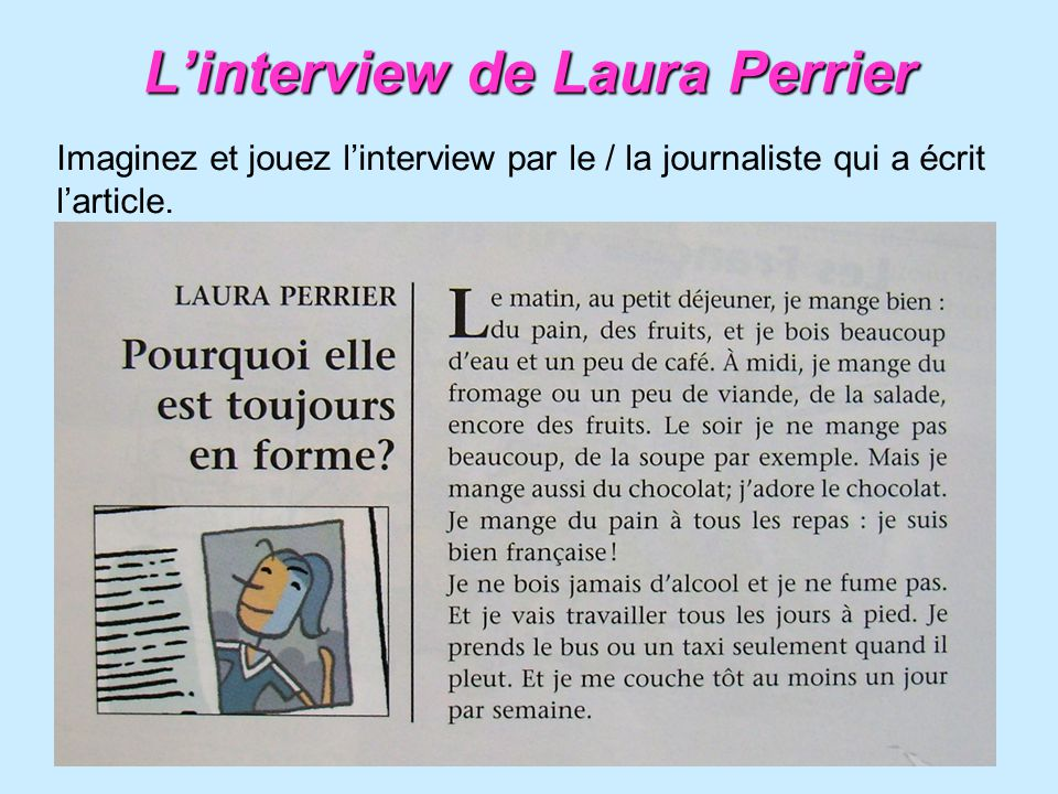 L'interview de Laura Perrier