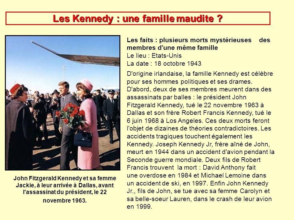famille kennedy mort