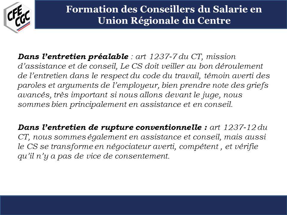 Formation Des Conseillers Du Salarie En Union Regionale Du Centre