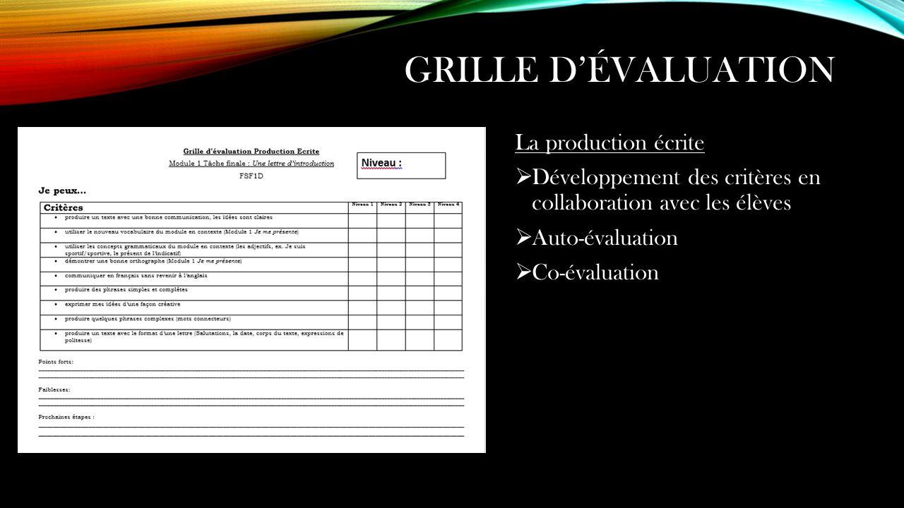 Le cecr au secondaire la structure d un module fls ppt video online t l charger - Grille d auto evaluation ...