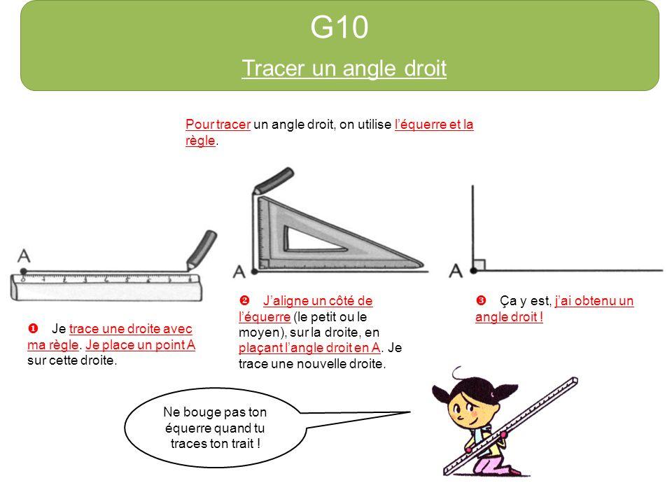 g1 tracer la r gle pour tracer un trait qui passe par 2 points a et b j utilise ma r gle u. Black Bedroom Furniture Sets. Home Design Ideas