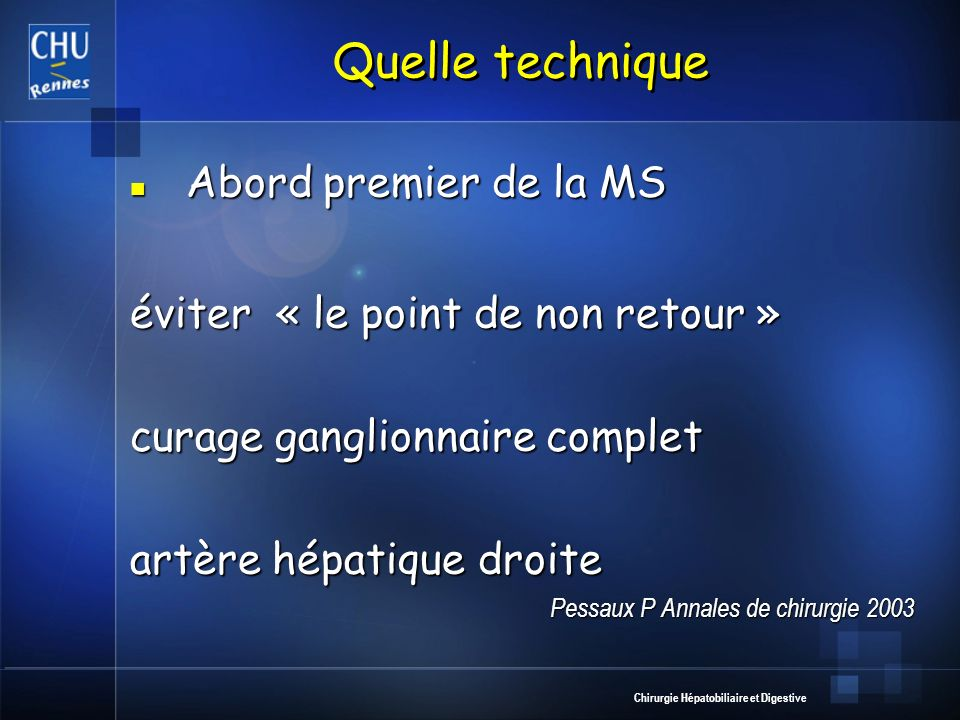 Quelle technique Abord premier de la MS