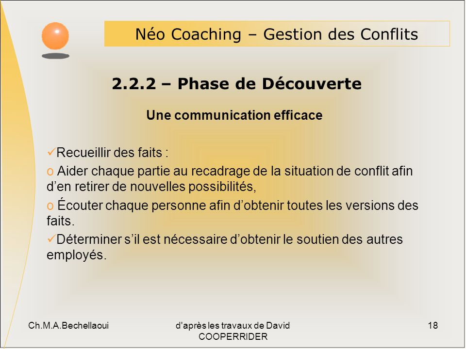 Une communication efficace