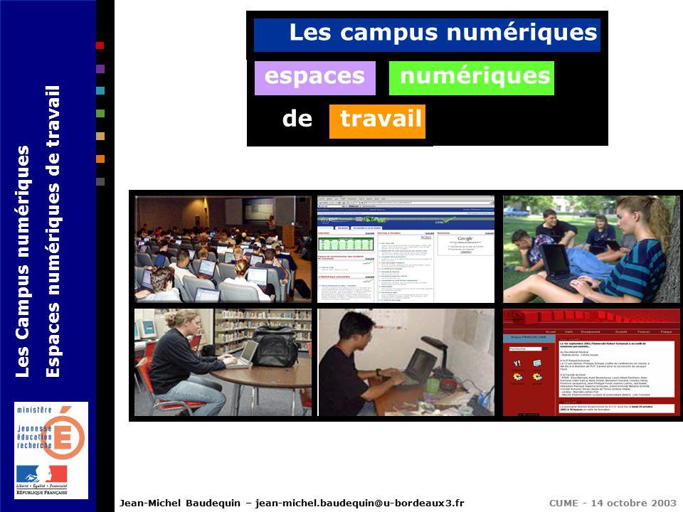 Les Campus Numériques Espaces Numériques De Travail Ppt