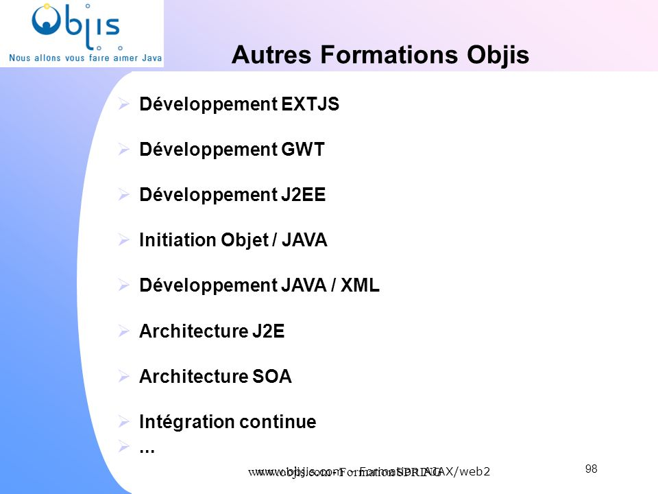 Autres Formations Objis