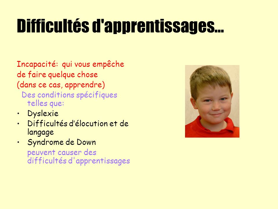 Difficultés d apprentissages…