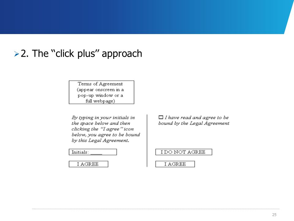 2. The ''click plus'' approach