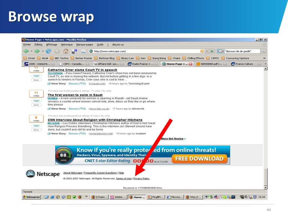 Browse wrap
