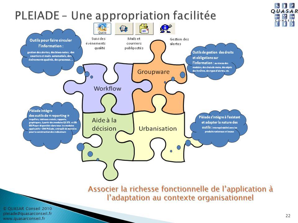 PLEIADE – Une appropriation facilitée