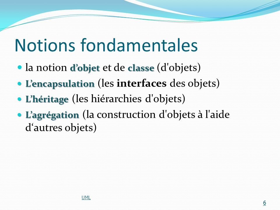 Notions fondamentales