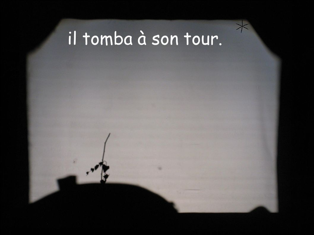 il tomba à son tour.